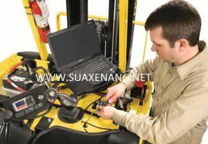Thường xuyên kiểm tra đường dây điện xe nâng