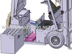 Cách sử dụng xe nâng điện - Bình ắc quy xe nâng hàng