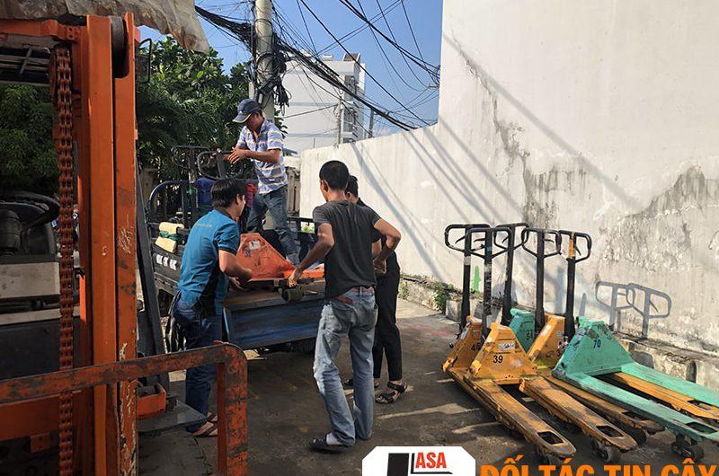 Sửa chữa xe nâng tay thấp, tay cao giá rẻ tại TP. HCM