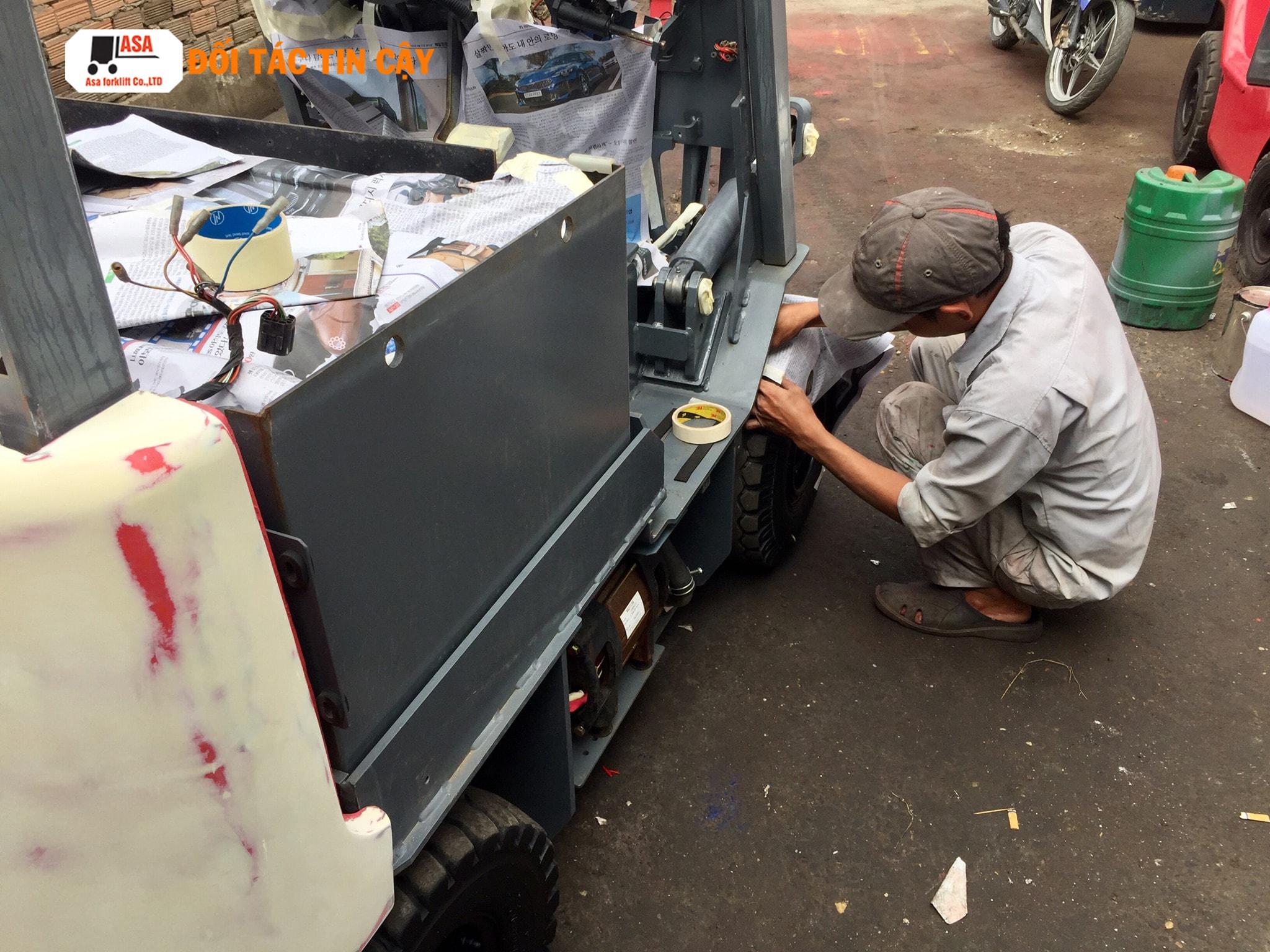 Những hư hỏng của xe nâng hàng sẽ đươc Asa khắc phục nhanh chóng