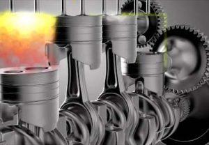 Động cơ xăng hoạt động dựa trên việc đánh lửa của không khí với nhiên liệu nén