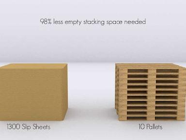 Sử dụng slipsheet tiết kiệm được tới 90% không gian lưu trữ